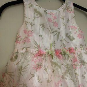 Other - Girls Flower Print Fluffy Dress